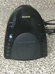 AIWA DIGITAL DUAL ALARM CLOCK AM/FM RADIO SNOOZE BUTTON RECEIVER MODEL FR-A305U