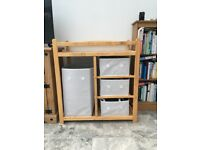 Baby changing table and storage