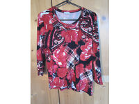 Red and black Gelco top size 12