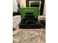 xbox one with controller and kinect boxed