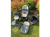 iCandy Peach 2 Truffle Pram Pushchair Travel System With Car Seat And Adapters