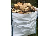 Firewood large builders bag Free Delivery within 20 miles of Wisbech