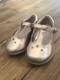 Next Infant size 4 Rose Gold Shoes