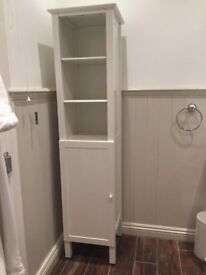 Tall bathroom cabinet by John Lewis in white