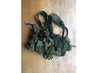 DPM Webbing; Yoke and pouches (army cadets, airsoft). Also included: spare yoke, 4x pouches