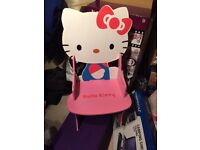 Hello kitty pink table an chair