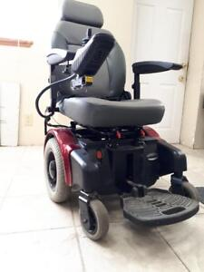 new electric wheelchair lifestylered clor  with new batteries capacity 350 lbs 12 km speed  for $950.00