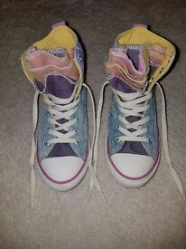 Girls Pastel High top Converse Size 2