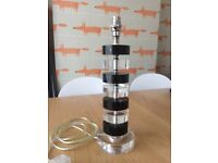 Clear and Black glass table lamp base