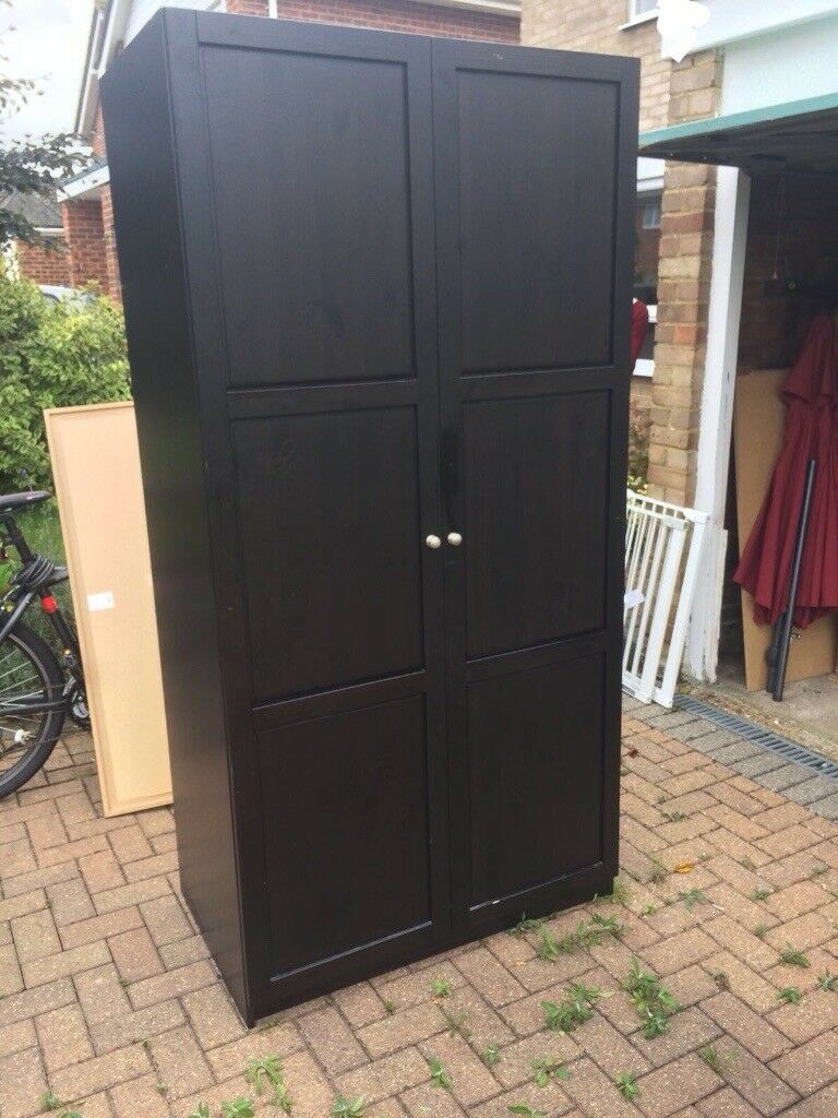 ikea hemnes wardrobe dark brown in burgess hill west sussex gumtree. Black Bedroom Furniture Sets. Home Design Ideas