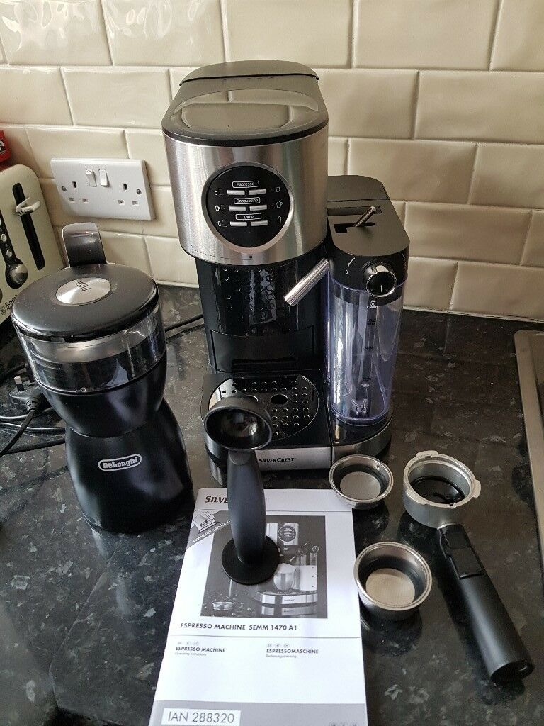 Silvercrest Espresso Machine Model Semm 1470 A1 And Delonghi Coffee Bean Grinder In Ashington Northumberland Gumtree