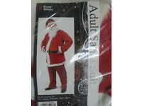 ADULT SANTA FATHER X MAS SUIT INCLUDES HAT BEARD AND BELT -COLLECT FROM SW2 TULSE HILL OR BRIXTON