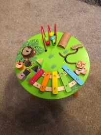 Toddler play and music table