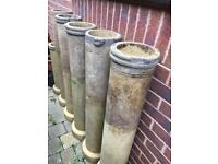 Chimney drain pipe garden planter plant pot