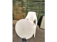 Free white garden table and chairs