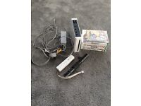 Nintendo wii, one controller and 6 games
