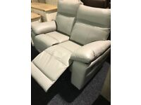 Grey quality leather BRAND NEW 3/2 recliner suite