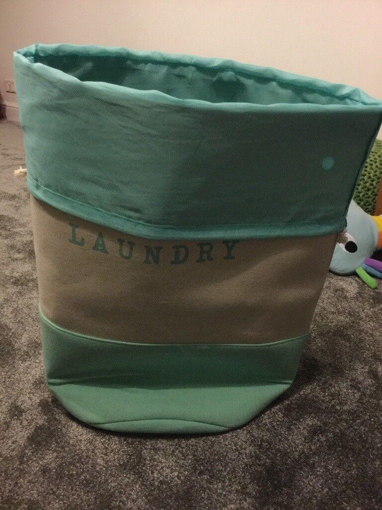 Mint green laundry bag