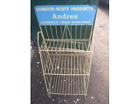 Vintage Andrex metal display stand