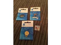 Olympic pin badges