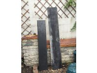 2 pieces of solid slate - ideal for fireplace mantles or hearth