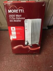 Moretti 7 Column Oil Heater W/ Timer 3 Heat Settings 1500W New