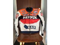 Repsol Scott Leathers motorcycle leather jacket