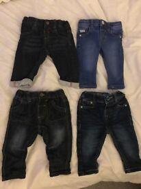 Baby boy jeans bundle 0-3 months