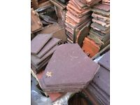 Brown concrete valley roof tiles