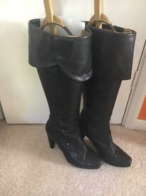 Duo boots (now Ted & Muffy), black knee high, size 6 (EUR 39), calf width 44cm