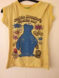 Women's Cookie Monster t shirt size 10