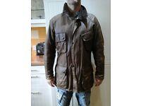 Mens brown wax jacket L