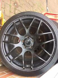 19 INCH AUDI ALLOYS NEED REPAIR HAVE GOOD TYERS