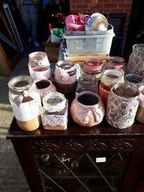 Wedding Table Pieces - centre jars handmade