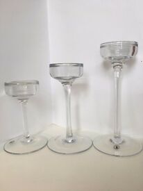 IKEA BLOMSTER Glass Candle Holders - 10 sets of 3 (10L, 10M, 10S) Wedding/party