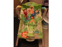 Baby bouncer to toddler chair