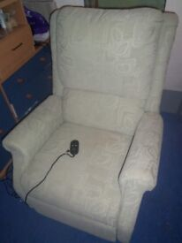 electric riser /recliner chair.elderly/disabled.pastel green material.good working order.