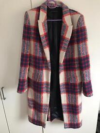 Zara long wool coat great condition size M