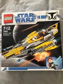 Rare Star Wars Lego 7669 Anakins Jedi Starfighter