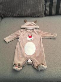 Baby Christmas newborn reindeer outfit