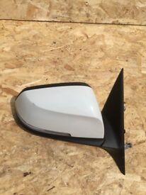 BMW 3 series F30 F31 front white Passenger near side mirror