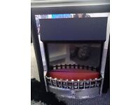 Electric fire inset just needs a blub comes with bag of glass stones 50ono collection only