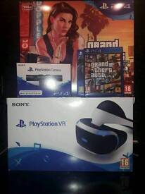 PS4 Slim   PSVR with Camera   2 Games   All boxed