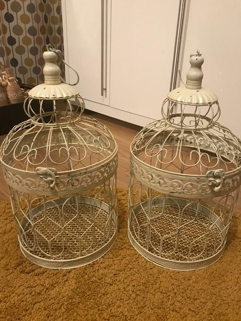 Birdcages x2 used on wedding top table