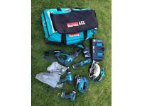 Makita 6 piece LXT 18v lithium cordless combo tool set.