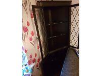 Beautiful dark wood corner cabinet