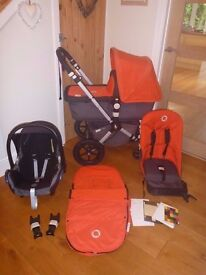 Bugaboo Cameleon 3 In 1 Travel System! Pushchair, Carrycot & Maxi Cosi Car Seat! Full Set! 2nd Gen