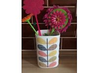 Orla Kiely utensil holder and 3 storage jars