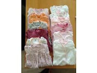 Bundle baby girls vests/sleep suits/outfits size up to 1 month Next