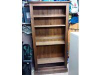 Solid pine bookcase / shelf unit / shelves